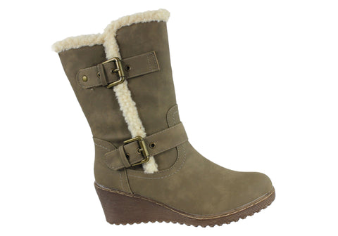 Bellissimo New Nora Womens Wedge Boots