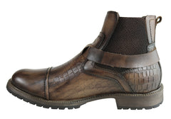 Ferricelli Jersey Mens Comfortable Leather Dress Boots Made In Brazil