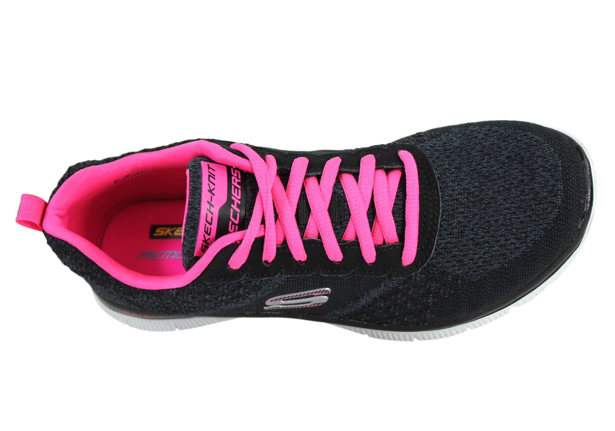 Skechers Flex Appeal Simply Sweet Womens Lace Up Sneakers