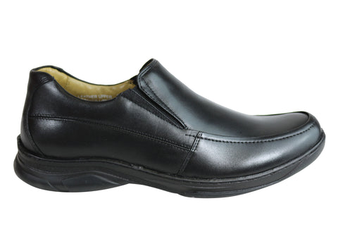 Savelli Roye Mens Comfort Leather Slip On Shoes Made In Brazil