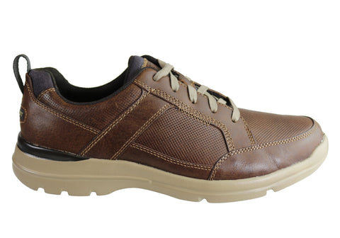 Rockport Mens City Edge Lace Up Comfortable Wide Fit Leather Shoe