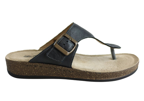 Florance E22004 Womens Leather Comfort Thong Sandals Made in Italy