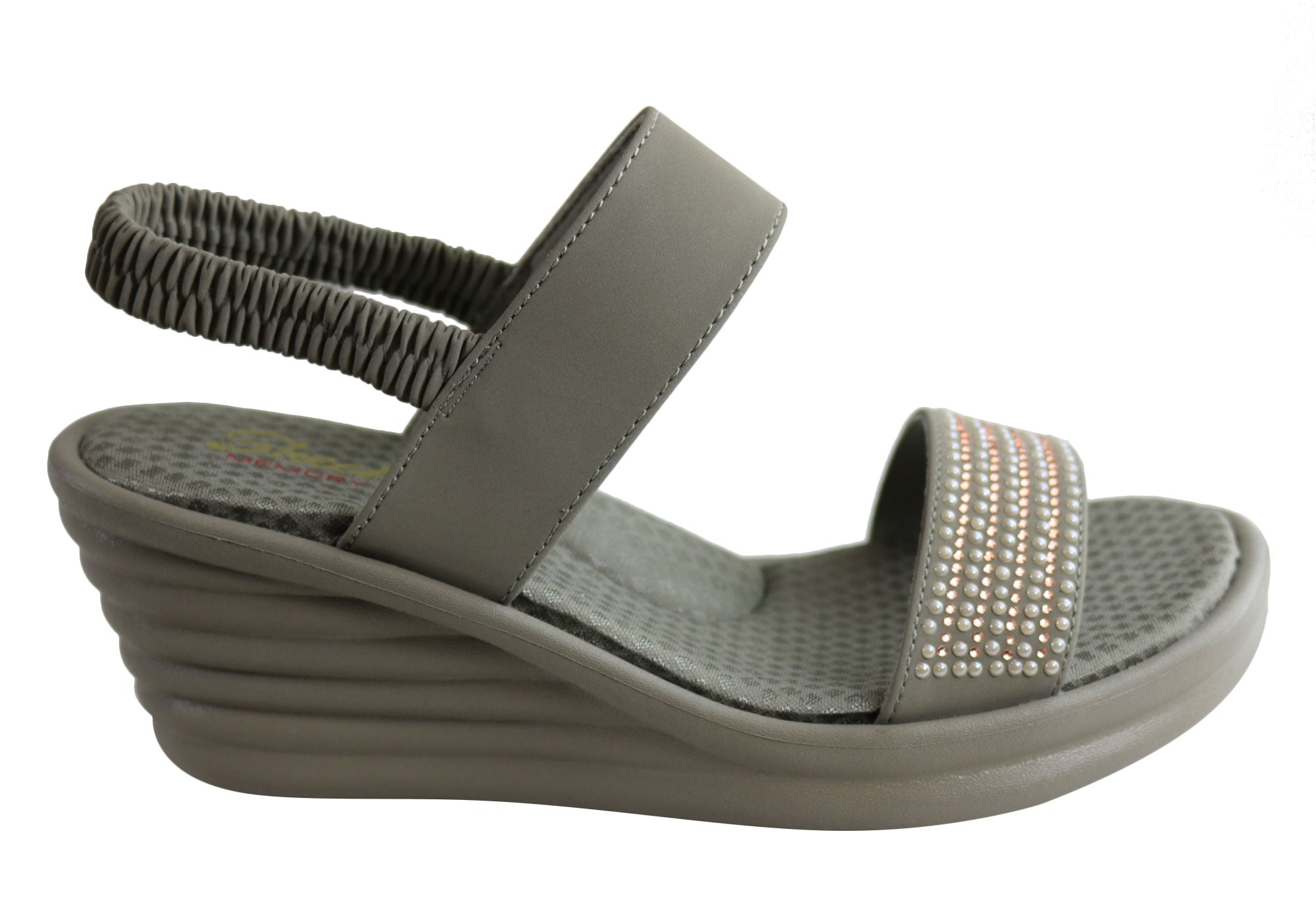 Skechers Womens Rumbler Wave Glam Game Sandals Brand House Direct