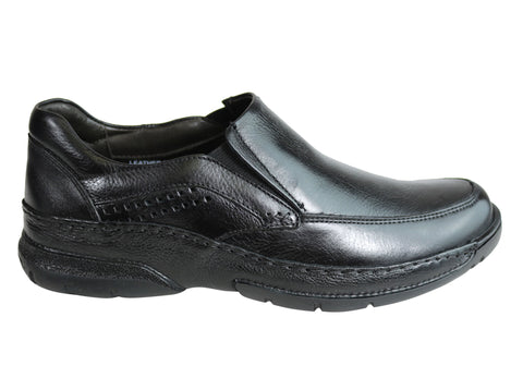 Savelli League Mens Comfort Leather Slip On Shoes Made In Brazil