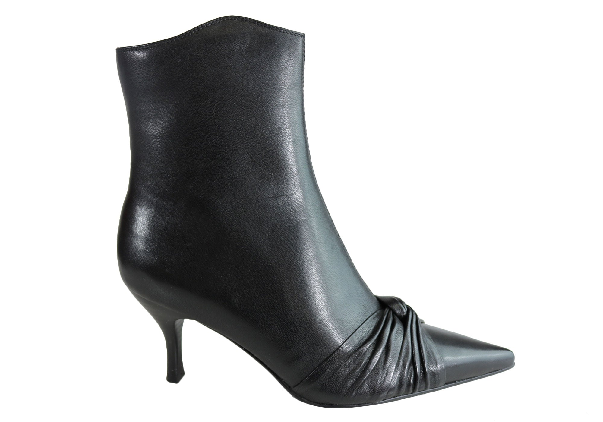 womens black ankle boots mid heel