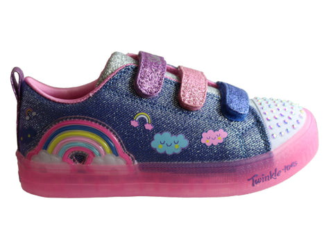 Skechers Kids S Lights Shuffle Brights Rainbow Glow Light Up Shoes
