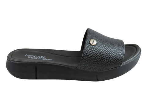 Modare Ultraconforto Abi Womens Cushioned Slide Sandals Made In Brazil