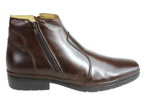 Savelli Noah Mens Comfortable Leather Dress Boots Made In Brazil