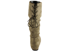 Isabella Brown Roxana Womens Mid Calf Boots
