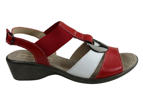 CC Resorts Lucy Womens Comfortable Leather Sandals