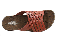 Merrell Womens Comfortable Leather District Mahana Slide Sandals