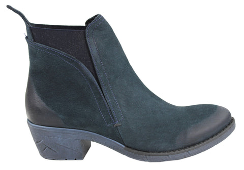 Bueno Antalya Womens Leather Boots Made In Turkey