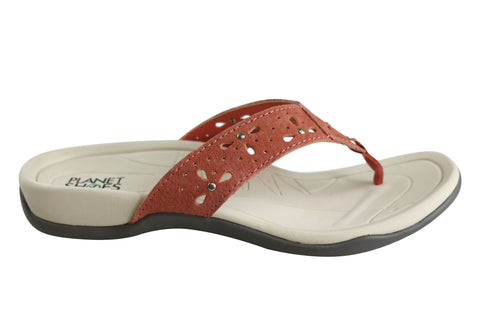 Planet Shoes Sun2 Womens Comfortable Casual Thongs With Support