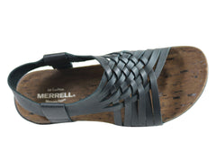 Merrell Womens Comfortable Leather District Mahana Backstrap Sandals