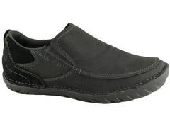 Caterpillar CAT Elkhorn Mens Leather Slip On Shoes (Wide Fit)