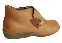 Flex & Go Harper Womens Comfort Leather Ankle Boots Made In Portugal
