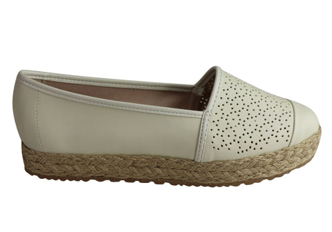Moleca Jenny Womens Comfortable Espadrille Low Wedge Fashion Shoes