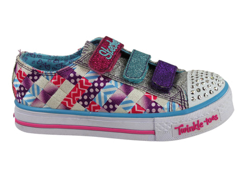 Skechers S Lights Shuffles Dots & Glitz Older Girls Sneakers