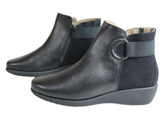 Flex & Go Gabriella Womens Soft Leather Ankle Boots Made In Portugal