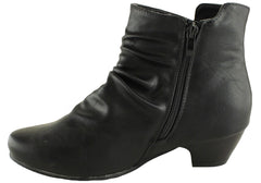 Bellissimo Caitlyn Womens Comfortable Low Heel Ankle Boots