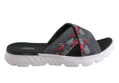 Skechers On The Go 400 Tropical Womens Comfortable Flat Slide Sandals