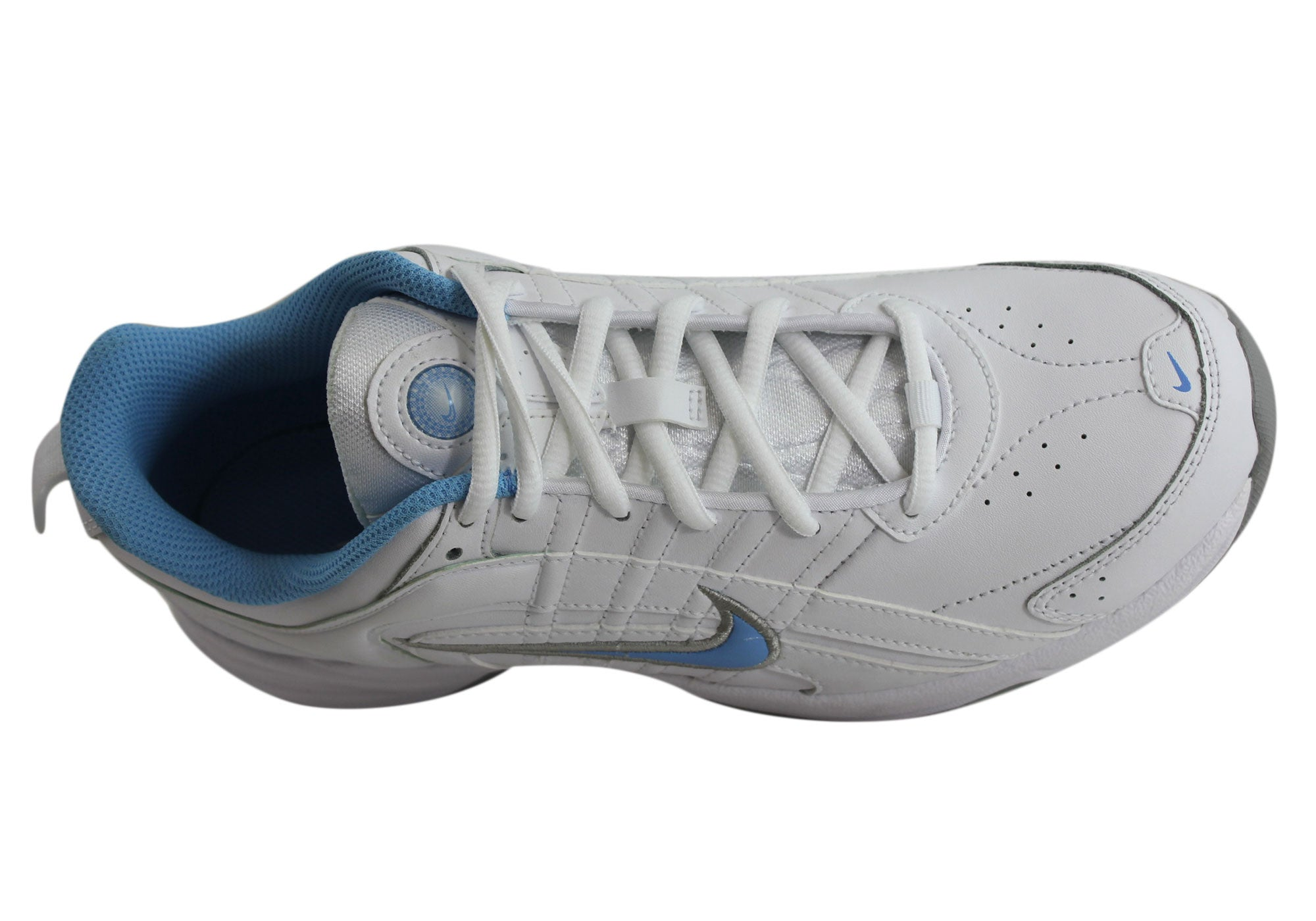 f4f46323b3510 Home Nike T-Lite VIII Leather Womens Sport Shoes. White Blue · White Blue  ...