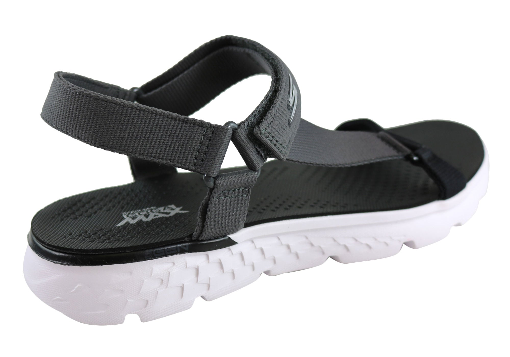 dcf1dfd36223 Home Skechers On The Go 400 Jazzy Womens Comfort Lightweight Sandals. Black Grey  · Black Grey · Black Grey · Black Grey · Black Grey ...