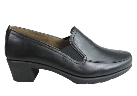 Flex & Go Vine Womens Comfort Leather Low Heel Shoes Made In Portugal