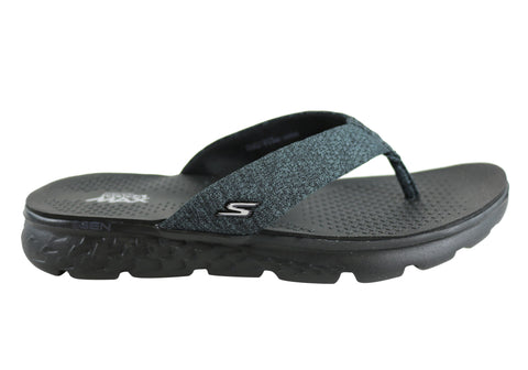 a51487bb8b6e Skechers On The Go 400 Vivacity Womens Comfortable Flat Thong Sandals