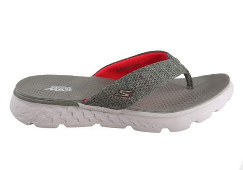 bcc296f4a6dc1 Skechers On The Go 400 Vivacity Womens Comfortable Flat Thong Sandals