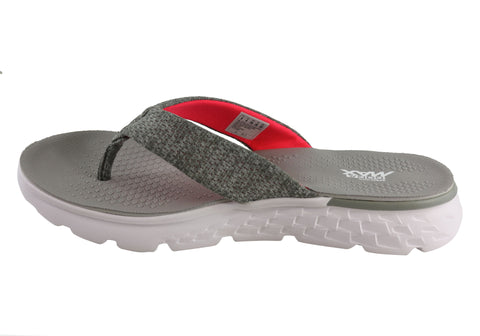 e1dd51c2ac2a Skechers On The Go 400 Vivacity Womens Comfortable Flat Thong Sandals