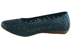 Grosby Jael Womens Ballet Flats (Wide Fitting)