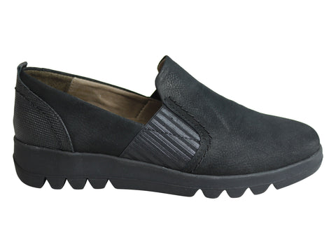 Flex & Go Leah Womens Soft Comfortable Leather Shoes Made In Portugal