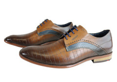 Ferracini Marcus Mens Leather Comfortable Dress Shoes Made In Brazil