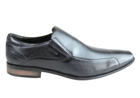 Ferracini London Mens Leather Comfort Slip On Dress Shoes Made In Brazil