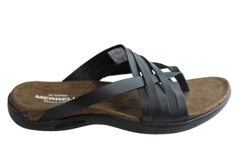Merrell District Mahana Post Womens Comfortable Leather Thongs Sandals
