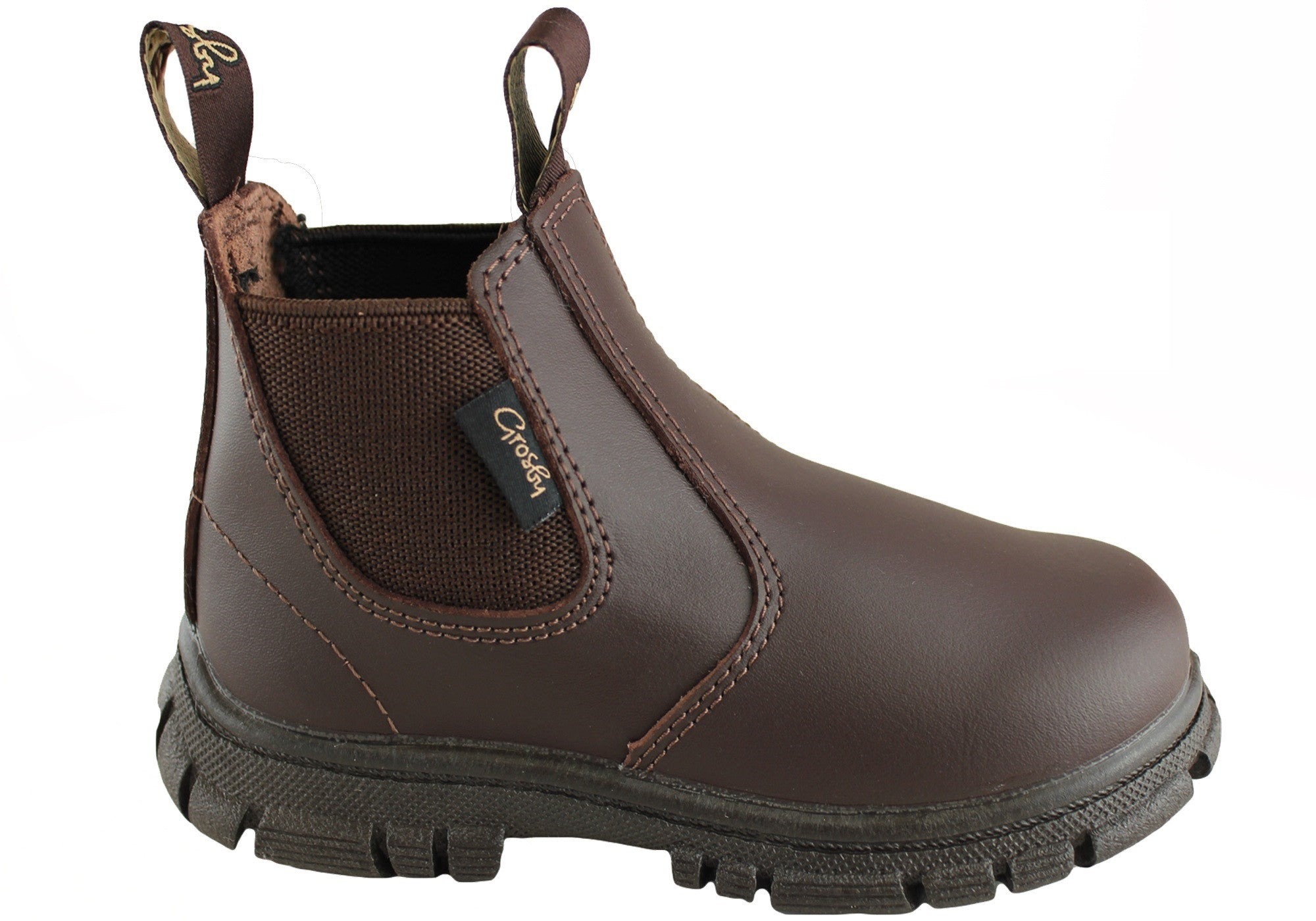 580823a2afa Home Grosby Ranch Junior Kids Leather Pull On Boots. Black · Brown ...