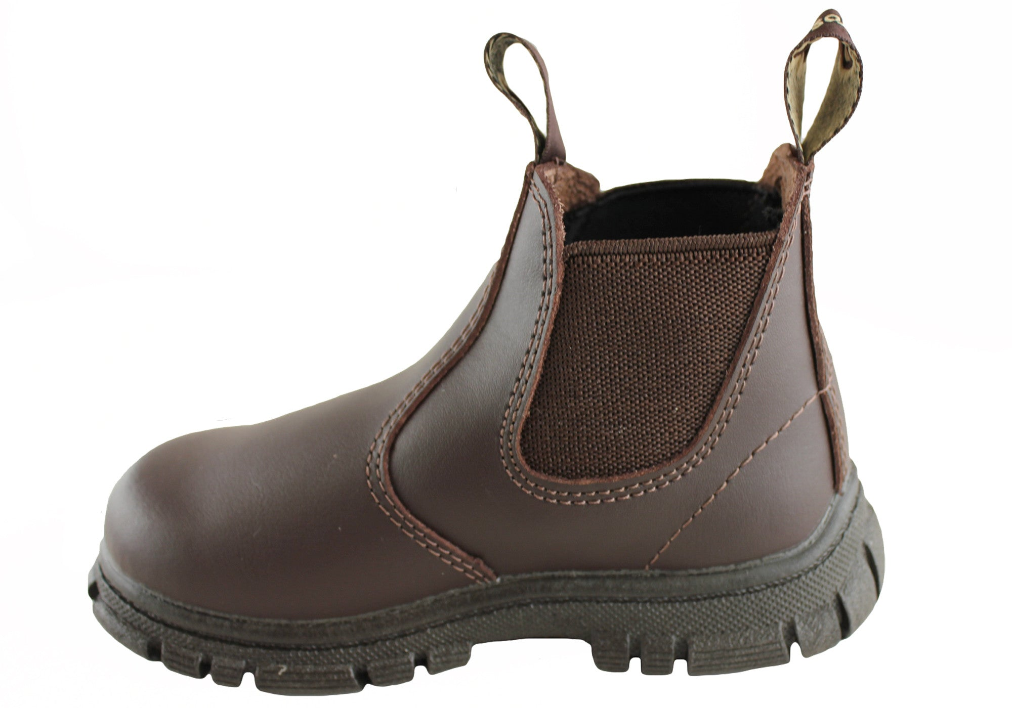 Grosby Ranch Kids Leather Pull Boots Brand House Direct