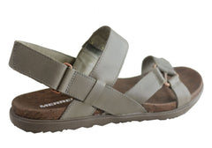 Merrell Womens Around Town Chey Backstrap Comfortable Leather Sandals