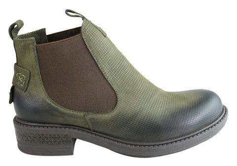 Orizonte Zita Womens European Comfortable Chelsea Leather Ankle Boots