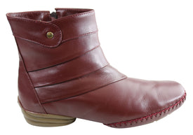 Comfortshoeco Lin Womens Leather Comfort Ankle Boots Made In Brazil