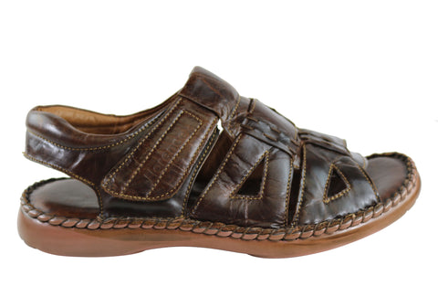 Florence Graeme Mens Comfortable Cushioned Leather Sandals