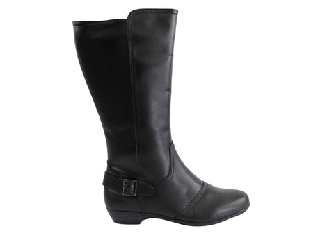 Cushion Comfort Anouk Womens Leather Comfortable Boots