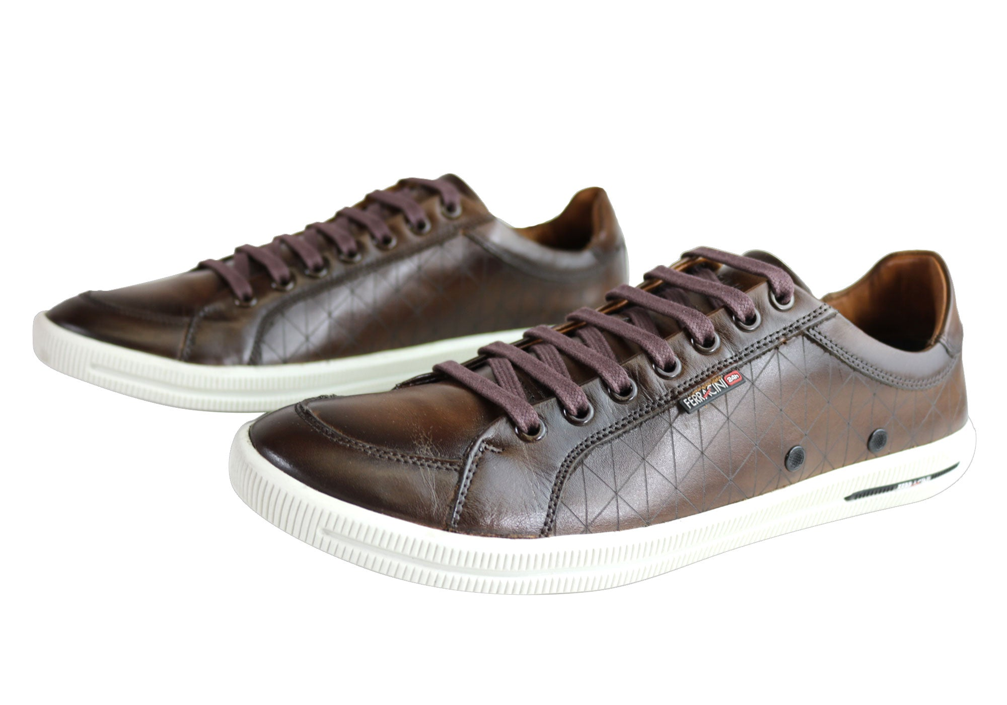 Ferracini Dylan Mens Comfort Lace Up Casual Shoes Made In Brazil