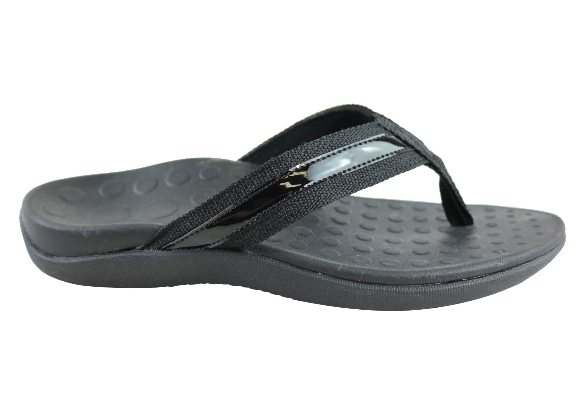 8067c6b1d Home Scholl Orthaheel Tide II Womens Comfort Orthotic Flip Flop Sandals.  Black ...