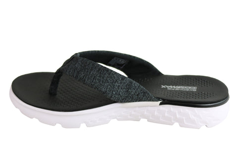5087e7c4ae1 Skechers On The Go 400 Vivacity Womens Comfortable Flat Thong Sandals