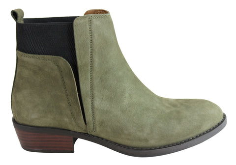 Orizonte Addison Womens European Comfort Chelsea Leather Ankle Boots