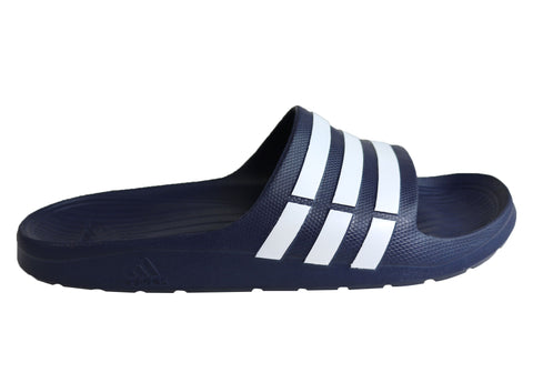 Adidas Mens Comfortable Duramo Cushioned Sports Slides Sandals