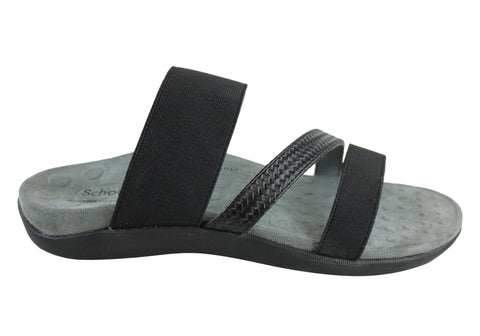 594561547e0e4 Scholl Orthaheel Matilda II Womens Comfort Slide Sandals With Support