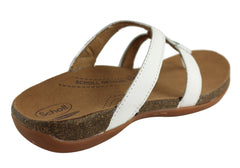 Scholl Orthaheel Ansley Womens Leather Comfort Thongs With Support